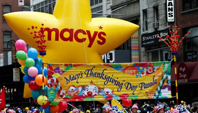 MACY Thanksgiving day parade featured