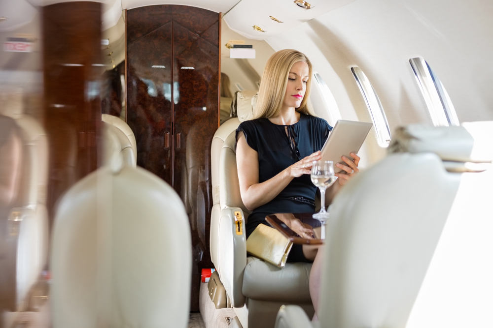 Private charter perks over commercial jet